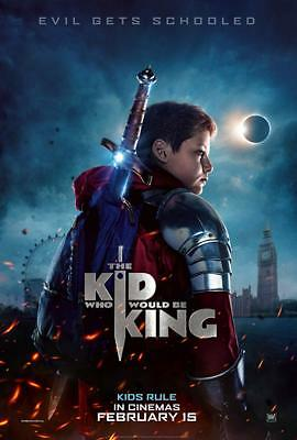 """THE KID WHO WOULD BE KING 2019 Advance Teaser DS 2 Sided 27x40"""" US Movie Poster"""