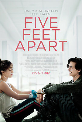 "FIVE FEET APART 2019 Original DS 2 Sided 27x40"" US Movie Poster Cole Sprouse"