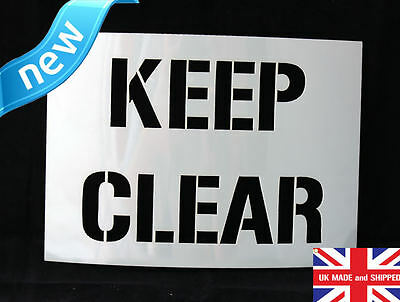 Reusable Keep Clear Airbrush Painting Stencil Sign Wall Door Floor Pavement Crat