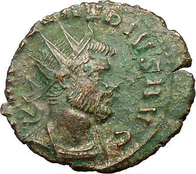 CLAUDIUS II Gothicus 268AD Ancient Roman Coin Salus Health Snake  i29234