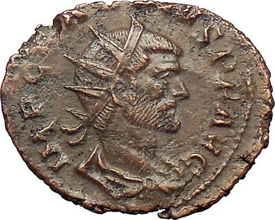 CLAUDIUS II Gothicus 268AD Ancient Roman Coin PAX Peace Goddess i29238
