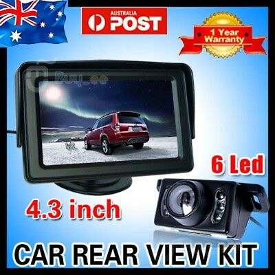 "CAR REAR VIEW KIT 4.3"" LCD MONITOR + IR Night Vision LED CAR REVERSING CAMERA"