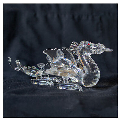 Crystal DRAGON ornament, lovely gift, New and in gift box