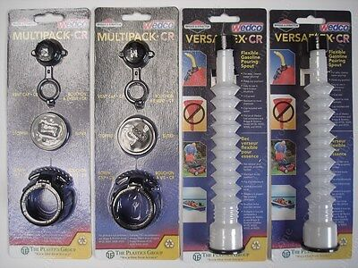 2 VERSAFLEX GAS SPOUTS + 2 MULTIPACK KITS Wedco Briggs Stratton Diesel Cans Jugs