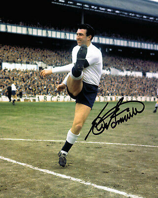 Bobby Smith HAND SIGNED Tottenham Spurs Legend 10x8 Photo AFTAL White Hart Lane
