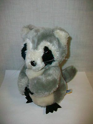 1982 DAKIN Fun Farm Raccoon Plush Bean Filled Toy Animal