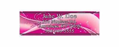 Custom Lady's Pink Club Shaft Labels With Your Name, Address & Phone