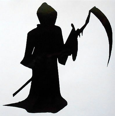 Halloween Gothic Party Grim Reaper Vinyl Sticker Decal  / Transfer