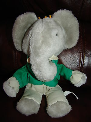 Eden Toys Babar the Elephant Plush Doll 11""
