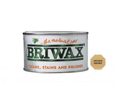 Briwax Antique Brown Wax 400g Cleans, Stains and Polishes - The Natural Wax