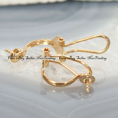 Yellow Gold Filled Ear clip Jewelry Settings 15mm