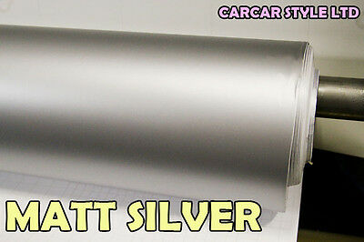 【SILVER】 MATT Vehicle Wrap Vinyl 0.3m x 1.52 Meter Air/ BUBBLE Free