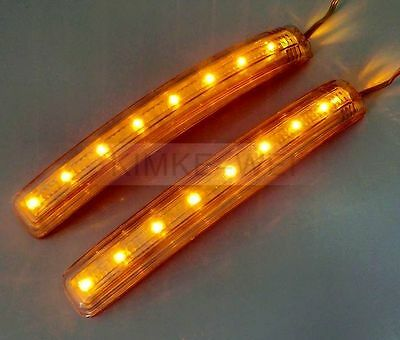 2 x 8 LED Car Turn Signal Indicator Mirror Light Amber