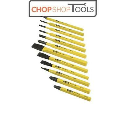 Stanley 12 Piece Set Of Chisel Cold chisel, Centre & Pin Punch STA418299