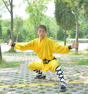 Shaolin Monk Kung fu Robe Tai chi Suit Martial arts Uniform for Kids Adults