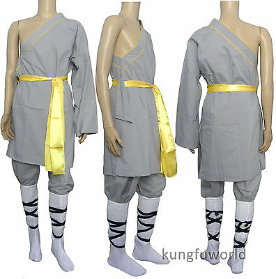 Midweight Cotton Shaolin Monk One-sleeve Uniform Martial arts Tai chi Suit
