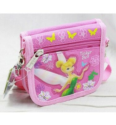 Disney Tinkerbell String Strap Wallet Small Purse Pink-  Fairies Tinkerbell