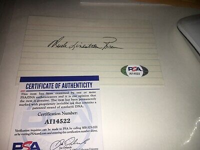 Murle Lindstrom 1962 US Open Signed 3x5 index Card