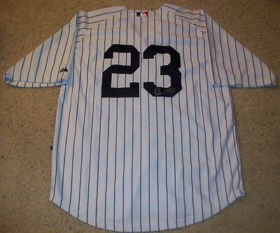 DON MATTINGLY SIGNED NEW YORK YANKEES JERSEY w/PROOF AUTOGRAPH N.Y.