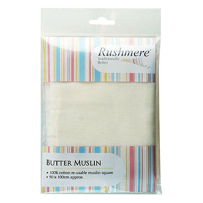 Rushmere Butter Muslin Cloth 100% Cotton Re-Usable Muslin Square 90cm x 75cm
