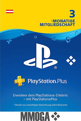 PlayStation Plus - PlayStation Network 90 Tage (3 Monate) PSN Card [AT] [NEU]