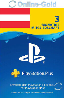 PSN Live Card Plus 90 Tage (Sony) nur für AT! Playstation Plus Key für 3 Monate