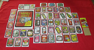 BACK MASTER SET 58//58 WACKY PACKAGES OLD SCHOOL 4 TAN