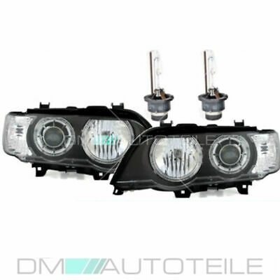 Bmw X5 Xenon Scheinwerfer Angel Eyes Schwarz D2S/h7+Philips Brenner D2S Set