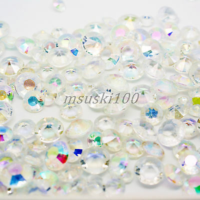 Ab Iridescent Wedding Table Scatter Acrylic Crystals Diamond Decoration 4 Size