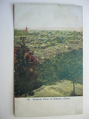 1909 General View Of Canton China Postcard