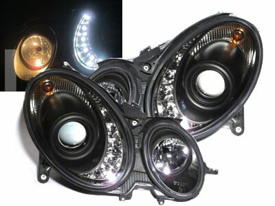 W211 2007-2008 07-08 Projector LED R8Look HEADLIGHT Black for Mercedes Benz
