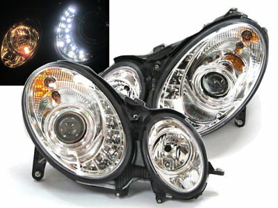 W211 2007-2008 07-08 Projector LED R8Look HEADLIGHT Chrome for Mercedes Benz