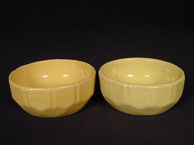 RARE PAIR of SMALL 4 INCH MORTON POTTERY BOWLS YELLOW WARE