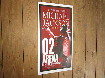 Michael Jackson O2 Arena Repro Concert POSTER