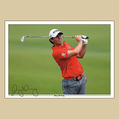 RORY McLLROY (36) Signed Autograph Photo Print A4 210 x 297mm