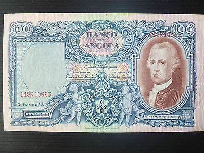 Angola Lot P-81 1946 100 Angolares VF-XF Add Collection