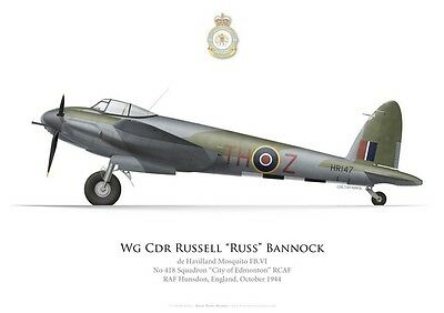 Print Mosquito FB.VI, W/C Russell Bannock, No 418 RCAF Squadron (by G.Marie)