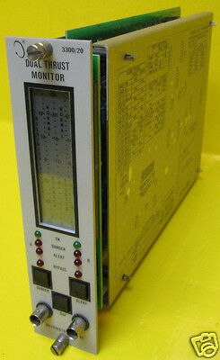 Bently Nevada 3300/20 Dual Thrust Monitor 30-0-30 mils 4-20mA PLC Bentley 330020