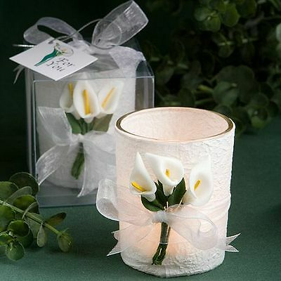 96 - Stunning Calla Lily Design Candle   - Wedding Favors