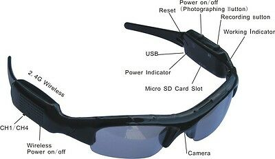 New Sunglasses DVR  Spy Cam Surveillance Sunglasses Security Video Camera Gadget