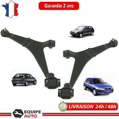 2 triangles bras de suspension Citroën ax saxo avant droit et gauche Peugeot 106