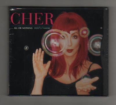 CHER - ALL OR NOTHING - DOV'è L'AMORE - CDs DIGIPACK  10 TRAKS -STAMPA USA MINT