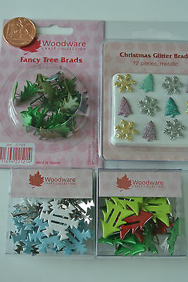 WOODWARE » Christmas Brads selection