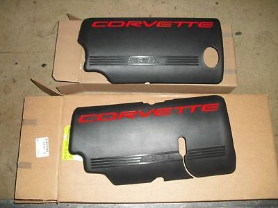 99-04 New GM Corvette Black Fuel Rail Coil Covers LS1 Pair 12561503 12561502