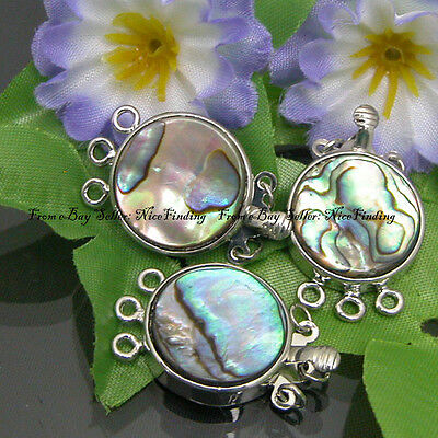 Natural Abalone Shell Clasp 3 Strings 18mm Jewelry
