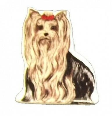 Ceramic Yorkshire Terrier Dog Fridge Magnet - Ideal Gift