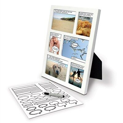 Comic Photo Frame - Multi Picture Novelty Frame - Picture Fun with Comics