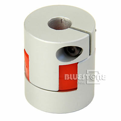 5/6/6.35/8/10/12mm Flexible Plum Shaft Coupling CNC Stepper Motor Coupler D25L30