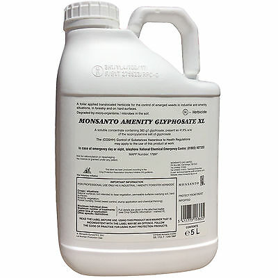 Amenity Glyphosate 360 weed killer 5ltr strong herbicide rainfast in 4 hours!