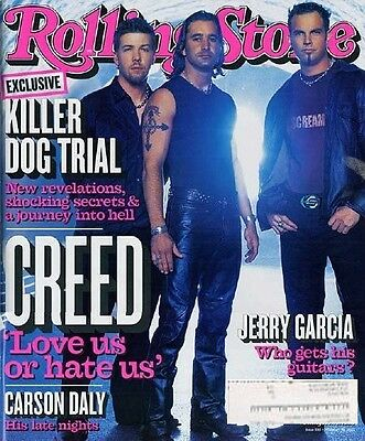 Rolling Stone 2/02 Creed/Jerry Garcia's Guitar/Carson Daly/Korn/Killer Dog Trial